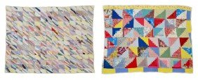 (2) VINTAGE HAND SEWN QUILTS
