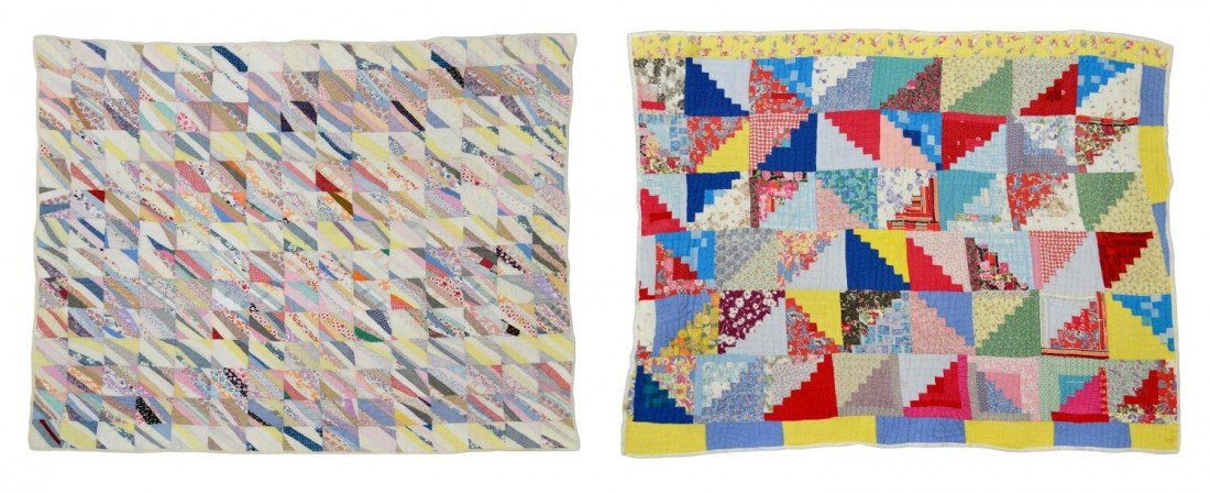 204: (2) VINTAGE HAND SEWN QUILTS