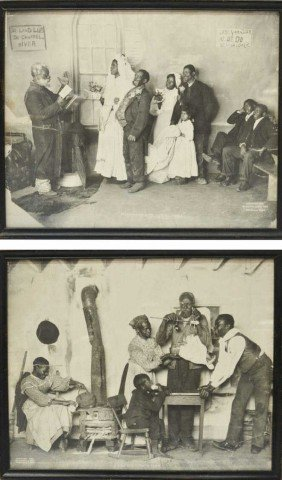 (2) ANTIQUE BLACK AMERICANA GELATIN SILVER PRINTS