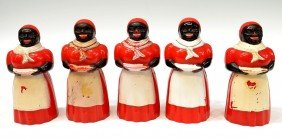 VINTAGE AUNT JEMIMA SYRUP PITCHERS & SALT SHAKERS