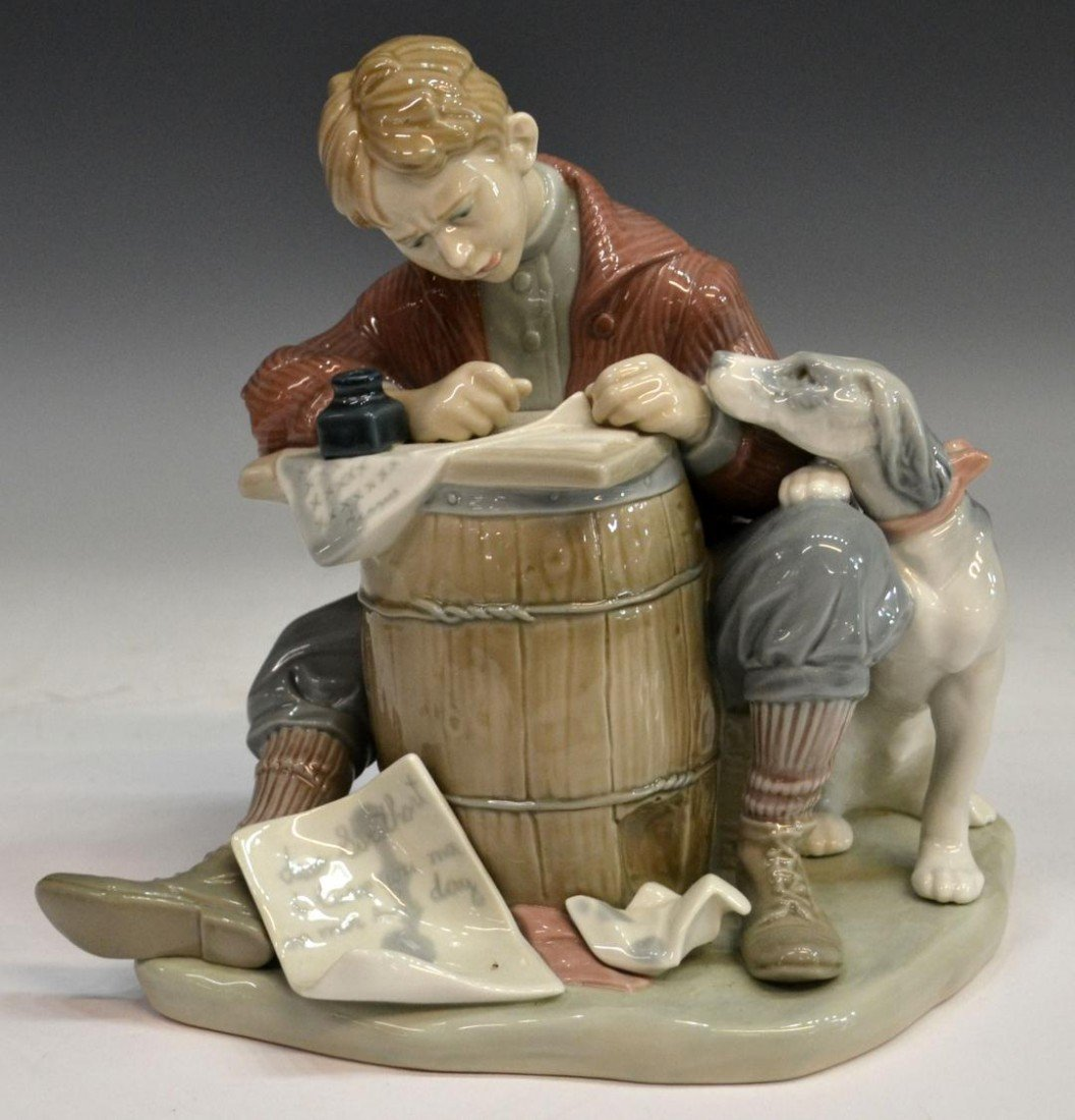 221: LLADRO, NORMAN ROCKWELL LOVE LETTERS, RETIRED