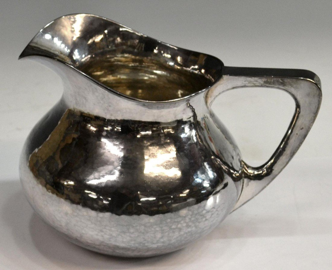 241: CHICAGO ARTS & CRAFTS STERLING SILVER PITCHER