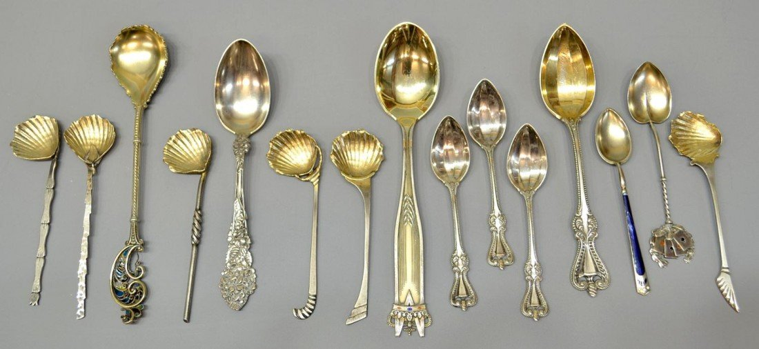 262: (15) STERLING SPOONS, A. MICHELSEN, TOWLE, GORHAM