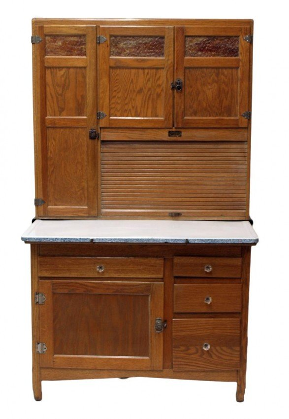 377: SELLERS 1920'S FITTED KITCHEN CABINET, INDIANA : Lot 377