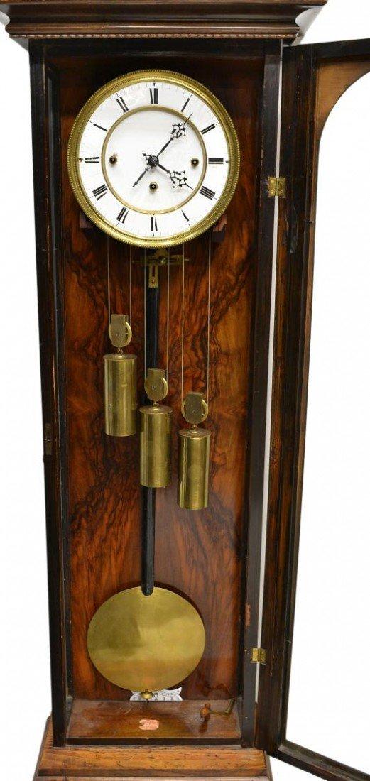 3: ROSEWOOD 3 WEIGHT VIENNA REGULATOR WALL CLOCK - 3