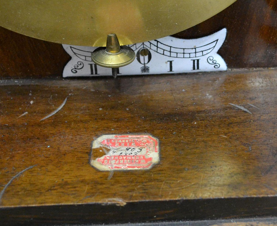 3: ROSEWOOD 3 WEIGHT VIENNA REGULATOR WALL CLOCK - 7