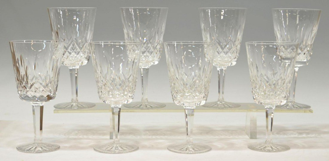7: (8) WATERFORD LISMORE GOBLETS