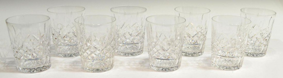 8: (8) WATERFORD LISOMRE DOUBLE OLD FASHION GLASSES