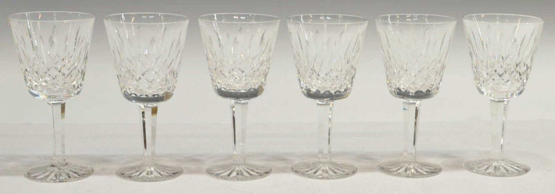 9: (6) WATERFORD LISMORE CLARET GLASSES