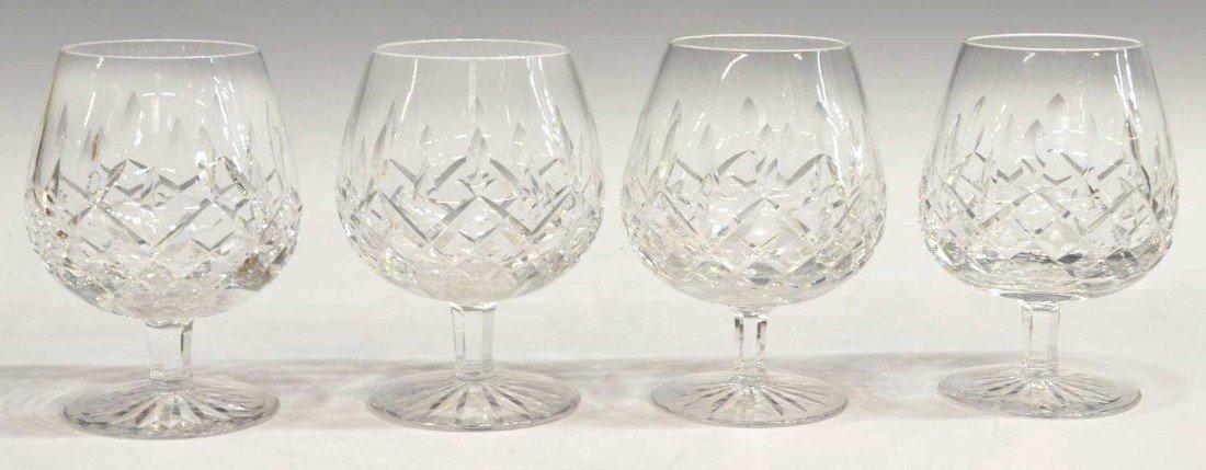 10: (4) WATERFORD LISMORE BRANDY GLASSES
