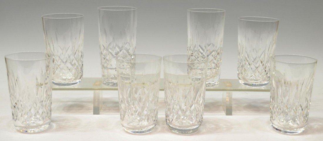 13: (8) WATERFORD CRYSTAL GLASSES, TUMBLERS & HIBALL