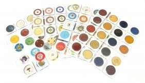 80 VINTAGE CLAY POKER CHIPS, SOME1930's & EARLIER