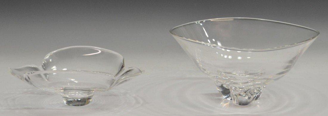 59: (2) LARGE STEUBEN COLORLESS GLASS BOWLS