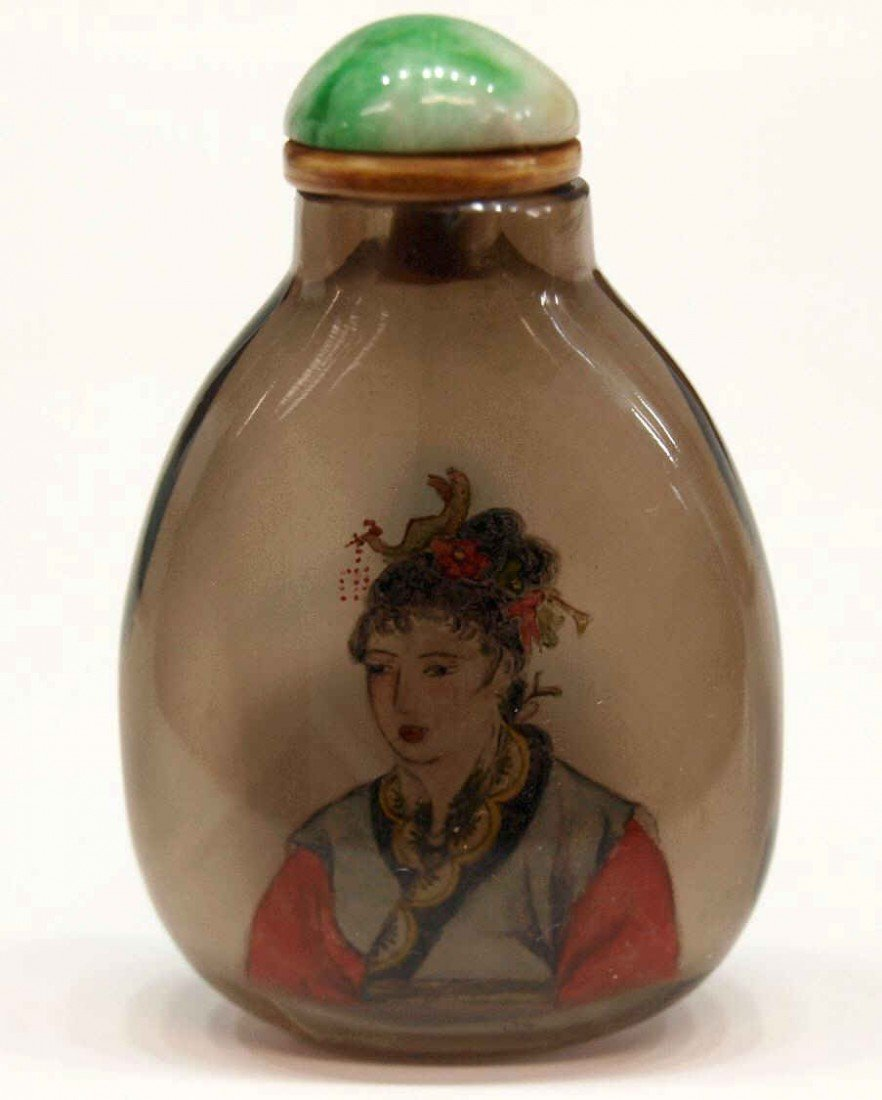 69: (2) CHINESE FIGURAL INSIDE PAINTED SNUFF BOTTLES