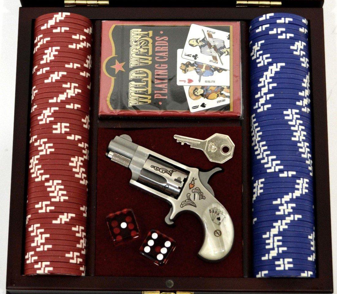 102: TALO RIVERBOAT .22 DERRINGER, & GAMBLERS BOX - 2