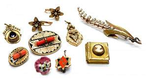 380 LOT VICTORIAN  VINTAGE GOLD  OTHER JEWELRY