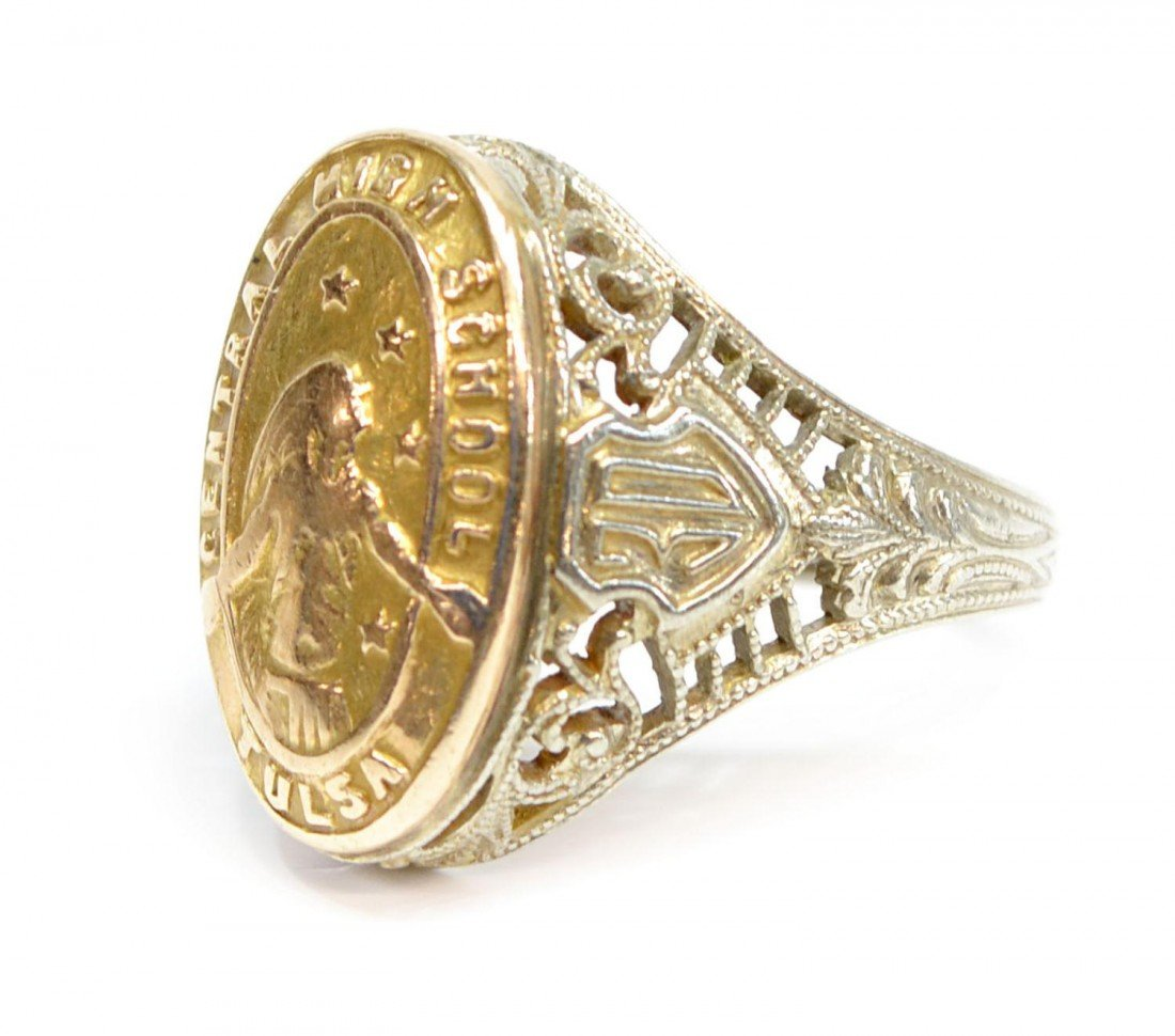385: (3) VINTAGE 10KT GOLD RINGS, 1930 TULSA CLASS RING - 2