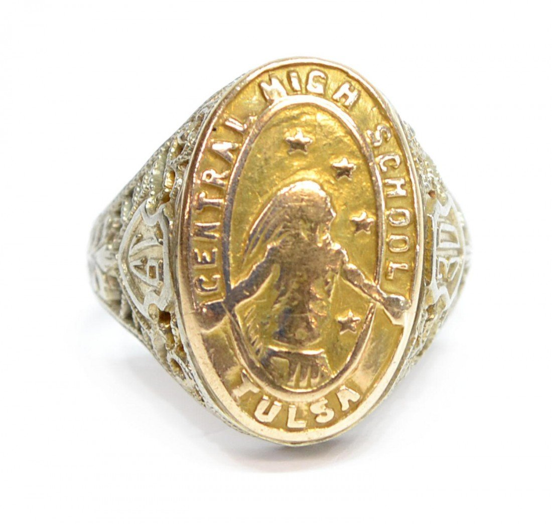 385: (3) VINTAGE 10KT GOLD RINGS, 1930 TULSA CLASS RING - 3