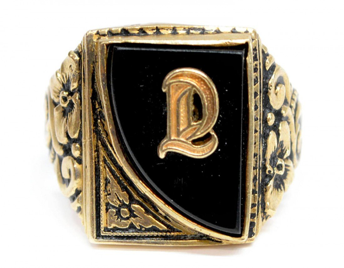 385: (3) VINTAGE 10KT GOLD RINGS, 1930 TULSA CLASS RING - 5