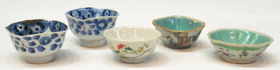 508: (5) CHINESE QING DYNASTY PORCELAIN BOWL GROUP