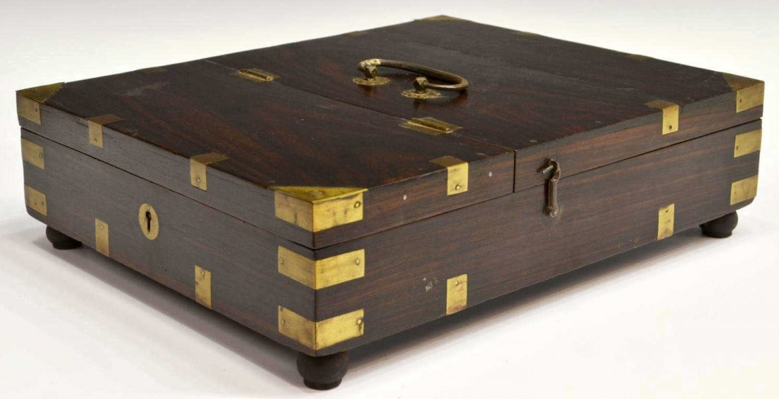 20: BRITISH COLONIAL ROSEWOOD CAMPAIGN TRAVEL BOX
