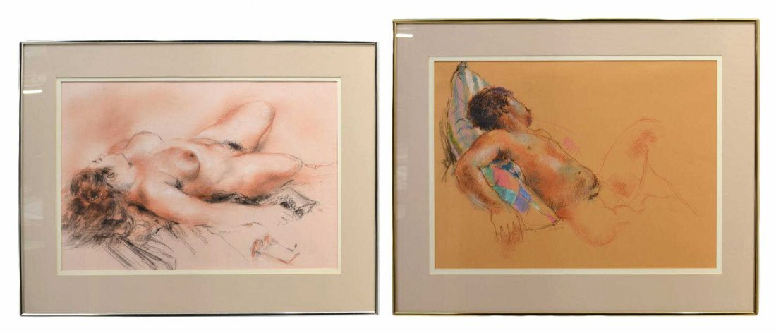 66: (2) NUDE PAINTINGS, RUTH CHATFIELD (1918-2011)