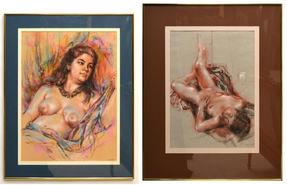67: (2) NUDE PAINTINGS, RUTH CHATFIELD (1918-2011)