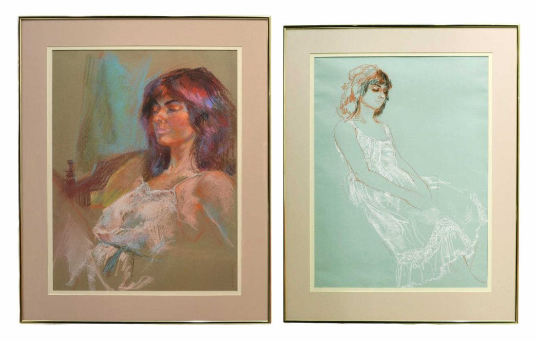 68: (2) FIGURAL PAINTINGS, RUTH CHATFIELD (1918-2011)