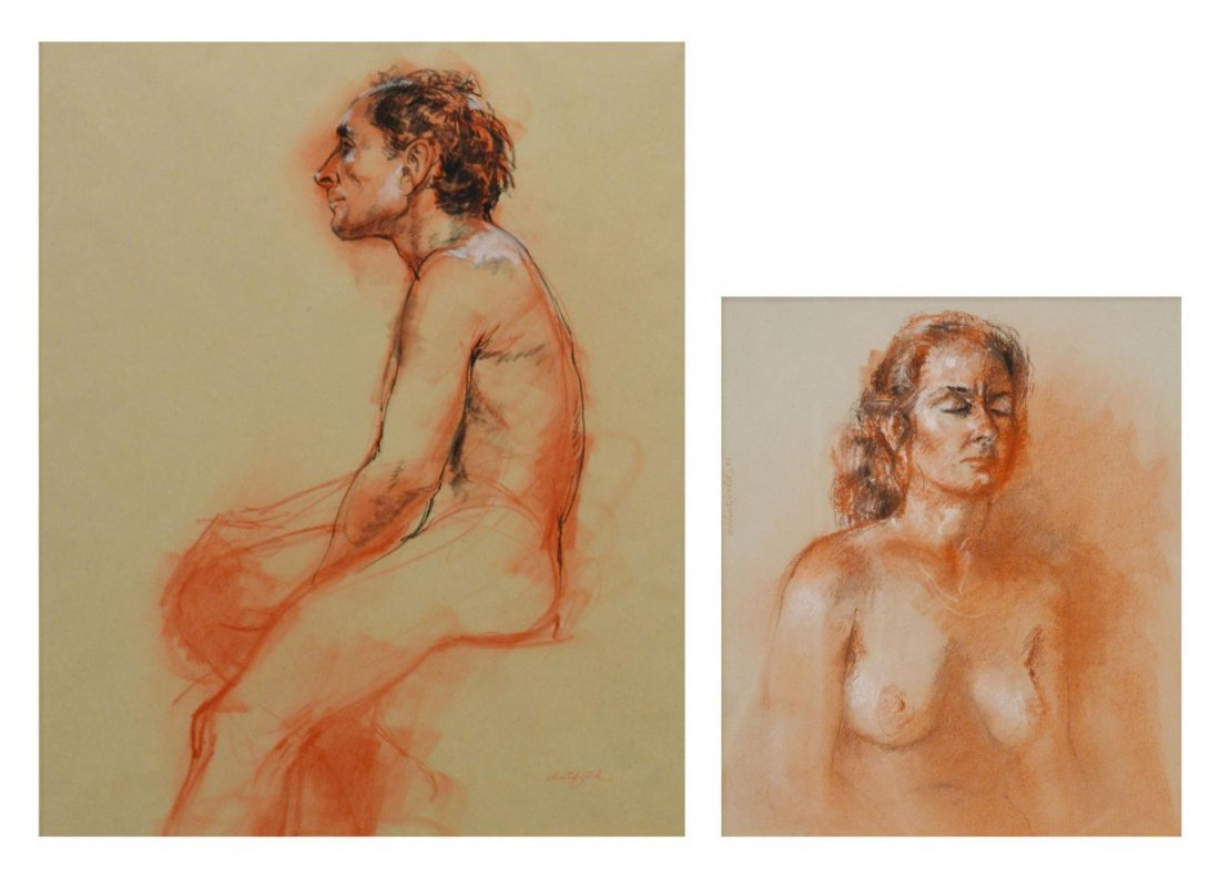 70: (2) NUDE PAINTINGS, RUTH CHATFIELD (1918-2011)