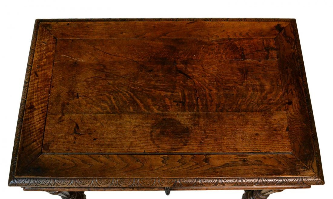 323: ANTIQUE ITALIAN RENAISSANCE CARVED WRITING TABLE - 7