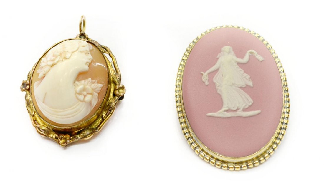 205: (10)OPAL, CAMEO, JADE & VINTAGE JEWELRY COLLECTION - 4