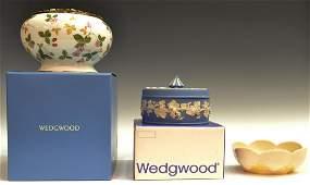 333: (3) WEDGEWOOD & BELEEK JASPER & PORCELAIN GROUP