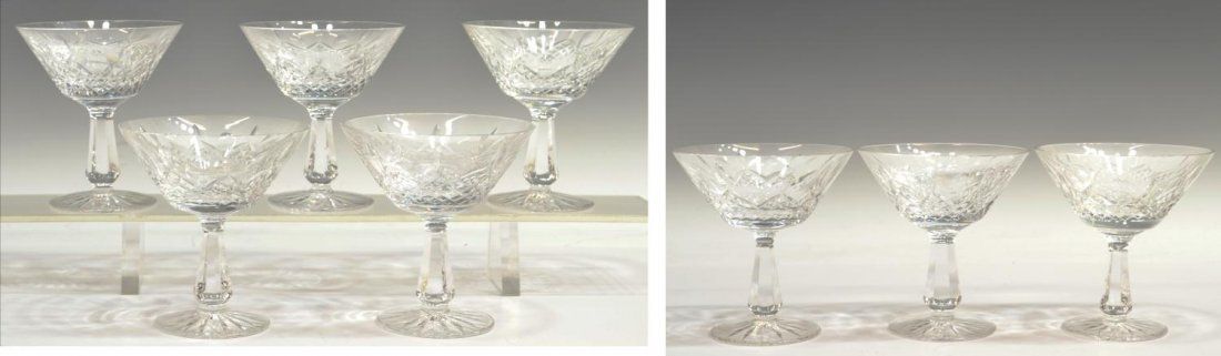 411: (8) WATERFORD CRYSTAL 'KENMARE' CHAMPAGNE GLASSES