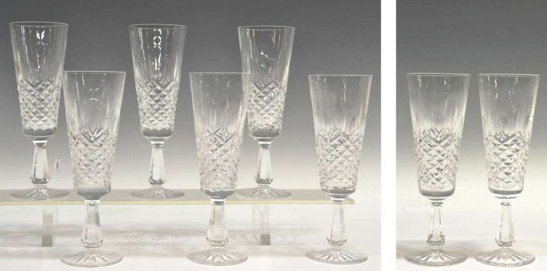 412: (8) WATERFORD CYRSTAL 'KENMARE' CHAMPAGNE FLUTES