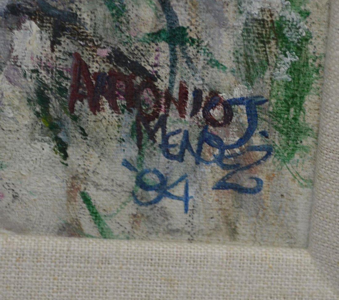 "656: PAINTING, ""BURNSIDE'S BRIDGE"", ANTONIO J. MENDEZ - 3"