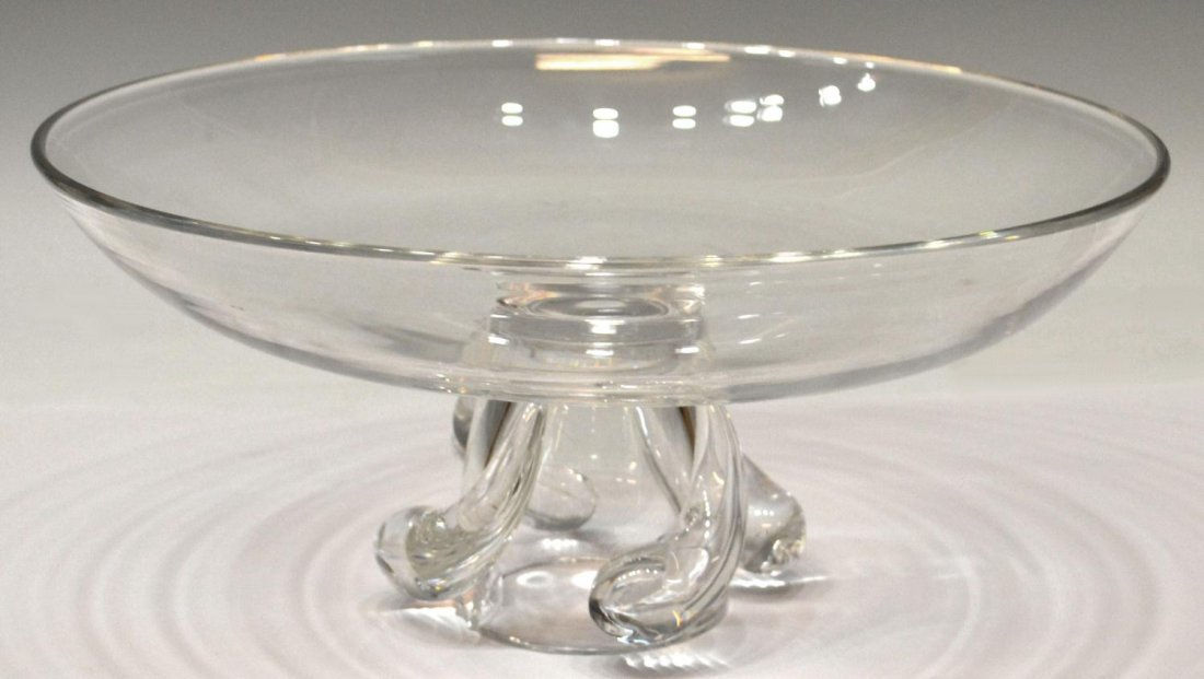 2: STEUBEN COLORLESS CRYSTAL BOWL, UNSIGNED