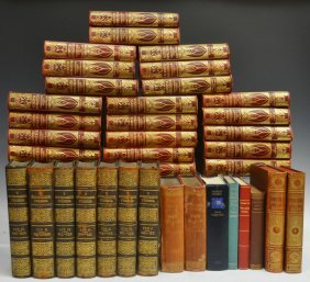 (38)GROUP GILDED LEATHER & FABRIC BOUND BOOKS