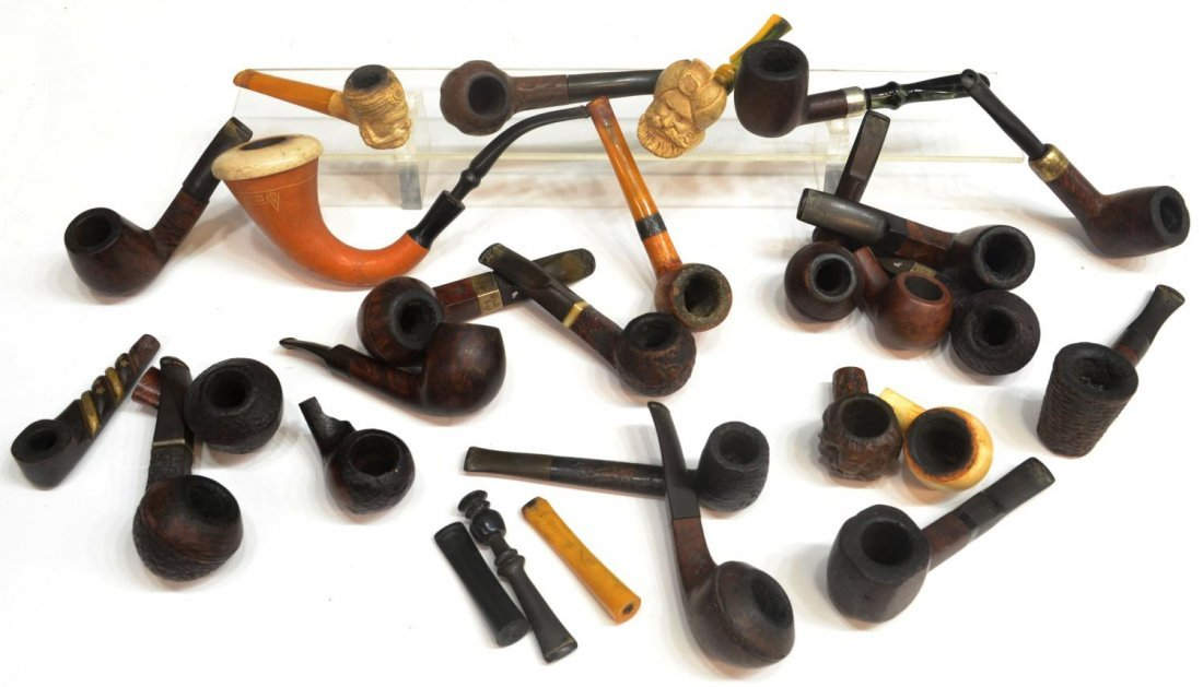 147: COLLECTION VINTAGE WOOD, MEERSCHAUM PIPES
