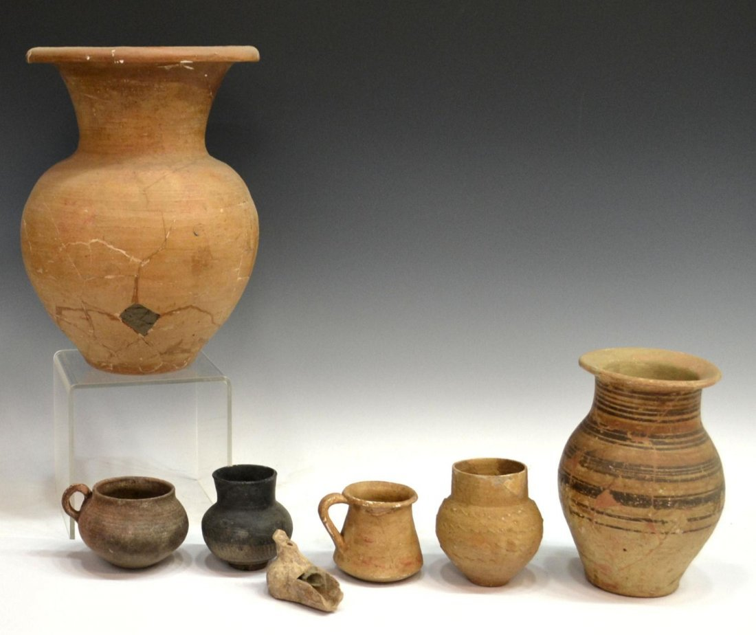 151: ANCIENT MEDITERRANEAN POTTERY ARTIFACTS, LAMP