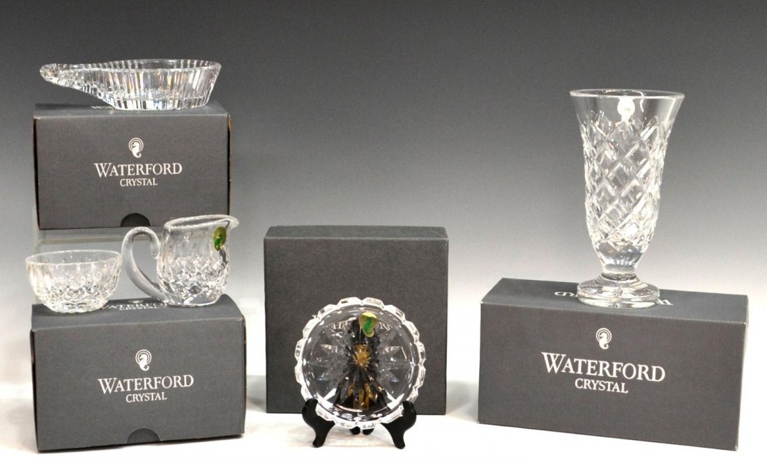 159: (5) GROUP OF WATERFORD CRYSTAL IN ORIGINAL BOXES