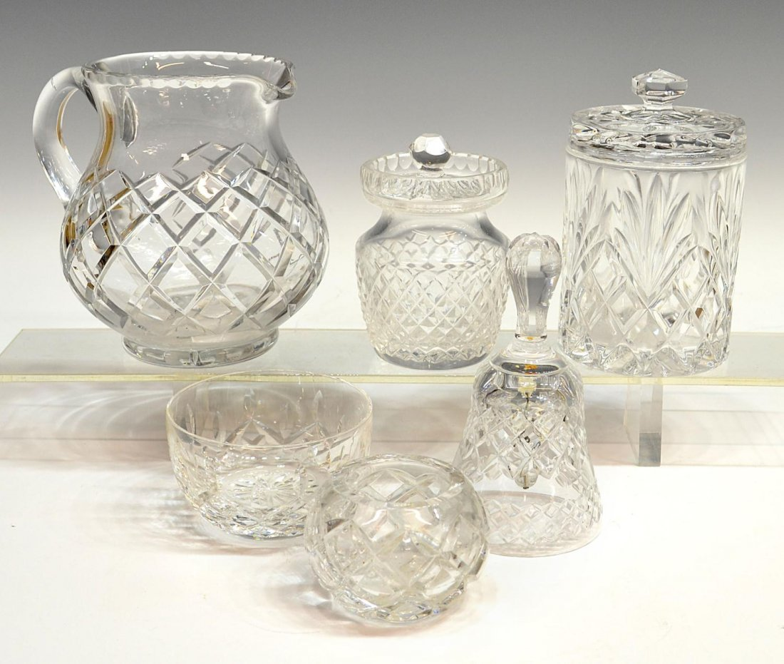 161: (6) COLLECTION OF WATERFORD & CUT GLASS TABLEWARE