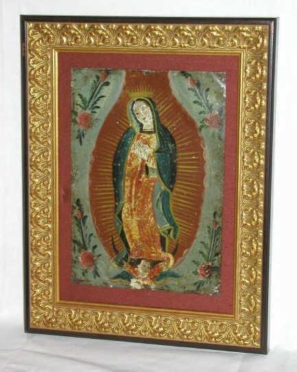 301: ANTIQUE RELIGIOUS RETABLO MEXICO