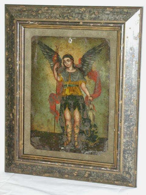 303: ANTIQUE RELIGIOUS RETABLO MEXICO