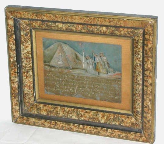 311: ANTIQUE RELIGIOUS RETABLO EXVOTO MEXICO 1899