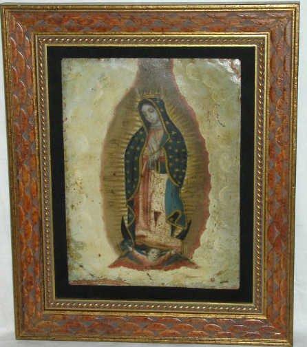 319: ANTIQUE RELIGIOUS RETABLO  MEXICO