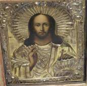 421 RUSSIAN ICON CHRIST LARGE CASE