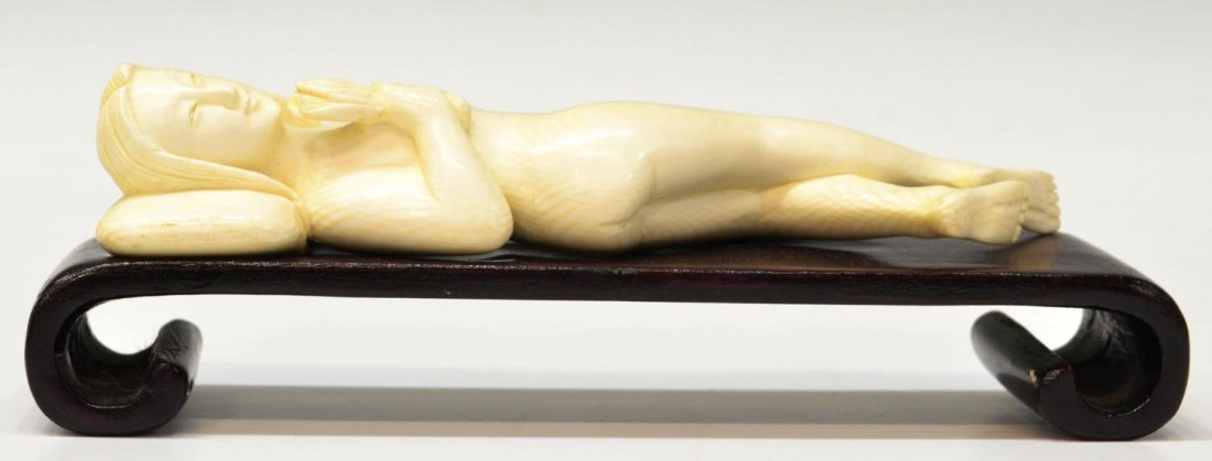 417: CHINESE CARVED IVORY DOCTORS MODEL