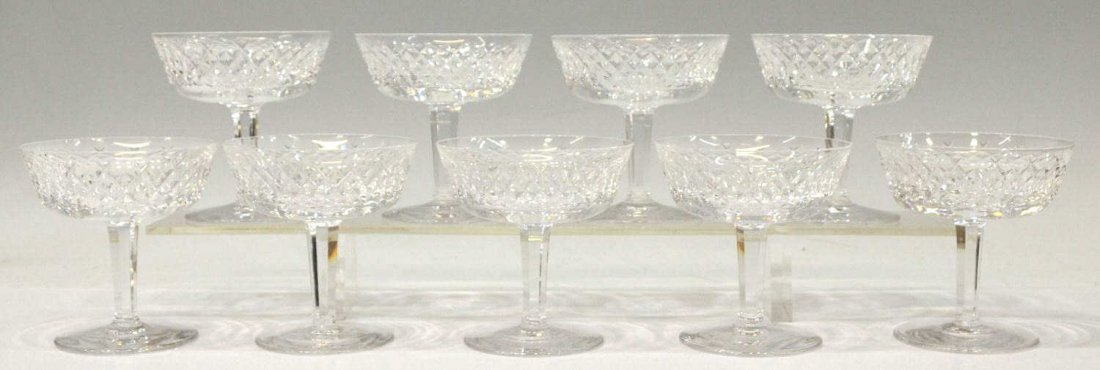 2: (9)WATERFORD CRYSTAL 'ALANA' CHAMAGNE STEMWARE