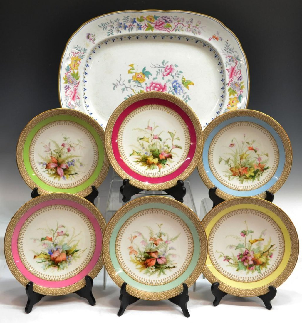 4: (7) ROYAL WORCESTER 1886 PLATES, THEODORE STARR