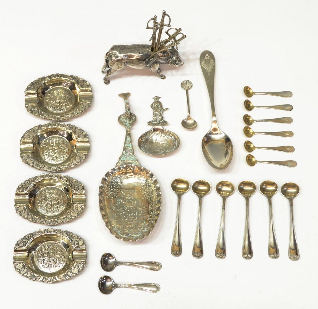 10: ASSORTED REPOUSSE STERLING & SILVER GROUP